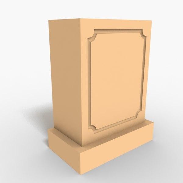 3ds max interior plinth block