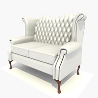 3d 3ds 2 seater scroll chair