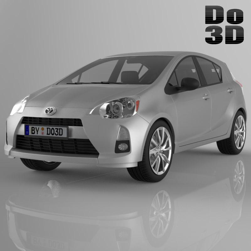 3d toyota prius 2013 model