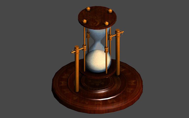 sand clock time 3d model