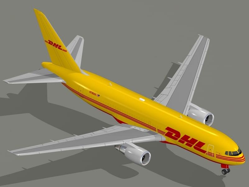 3d freighter aircraft boeing 767-200