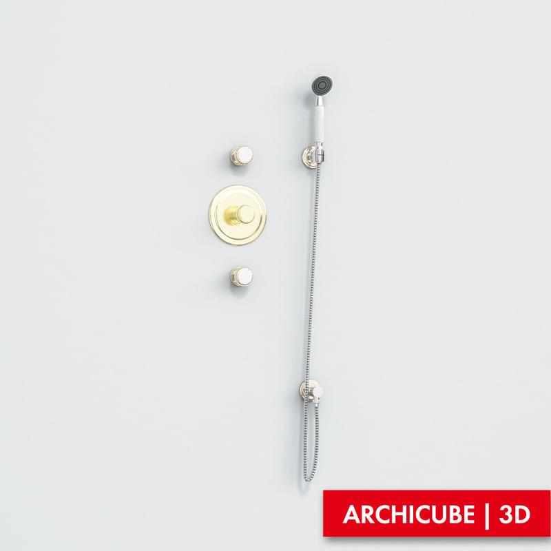3d model of mixer shower
