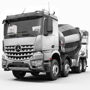 arocs concrete mixer 3d max