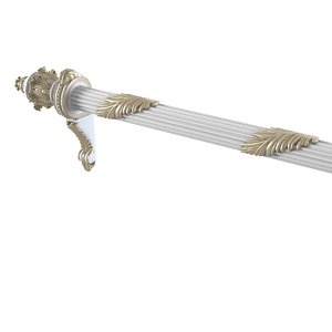 baroque curtain rod 3d model
