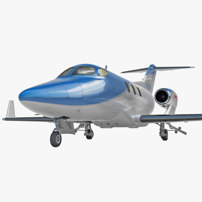 3d model of business jet honda ha-420
