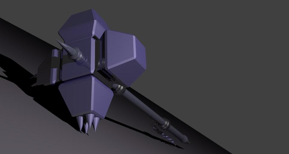 dwarven quad hammer 3d model