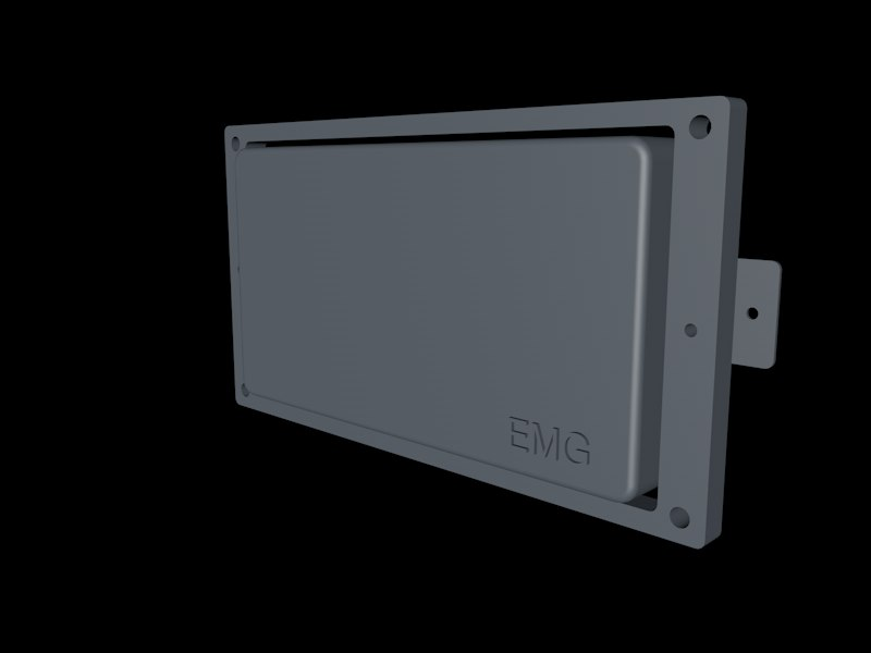 emg active humbucker pickup 3d model