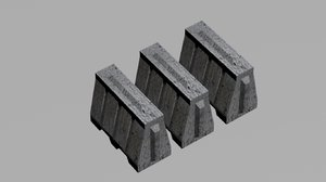 3d roadblock block road model