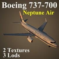boeing 737-700 npt 3d max
