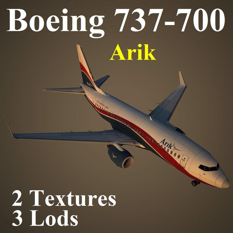 3d boeing 737-700 ara