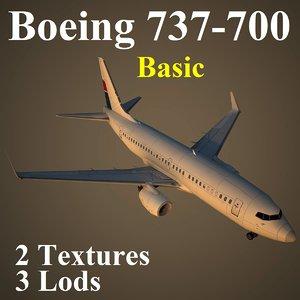 3d model boeing 737-700 basic