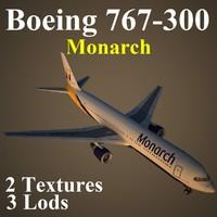 3d boeing 767-300 mon model