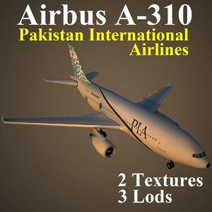 airbus pia 3d max