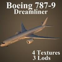 3d boeing 787-9 model
