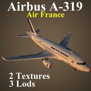 airbus afr 3d max