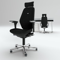Kinnarps task chair and work desk