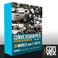 Convex Kitchen Decoration Vol. 1 - Vray, Scanline
