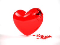 break heart 3d max
