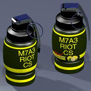 riot tear gas grenade 3ds