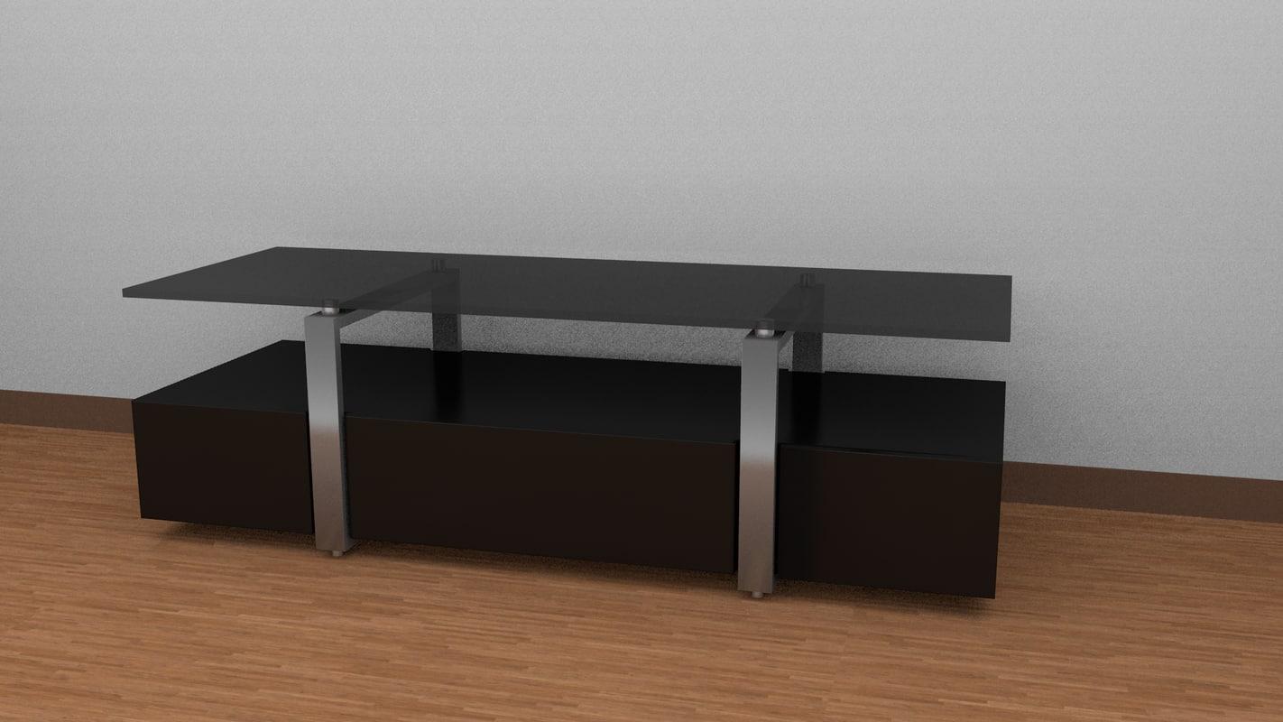 modern tv table obj