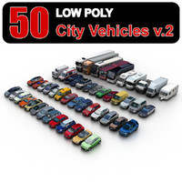 Low Poly City Vehicles vol.2