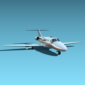 cessna cj2 private 3d obj