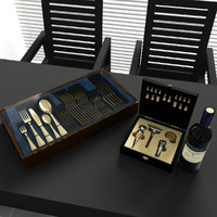 set 5 decorate kitchen 3d max
