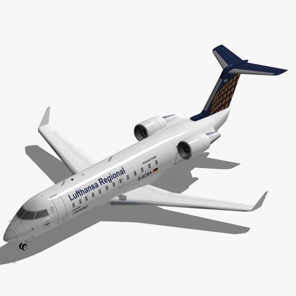bombardier canadair regional crj-200 3d 3ds