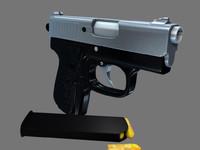 handgun bullet 3d ma