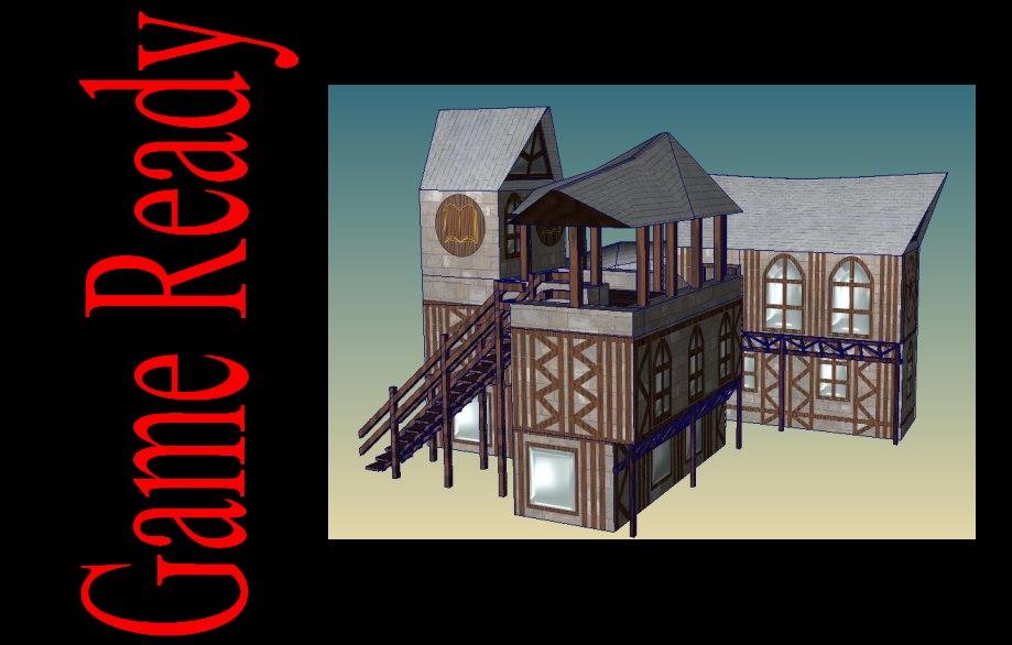 medieval house 3d x