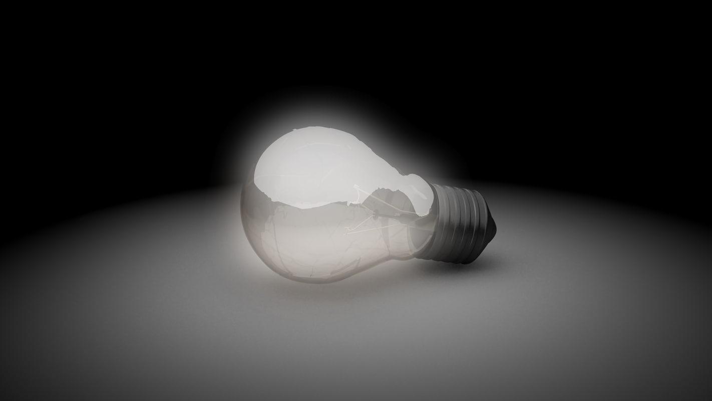 max exploding light bulb scene