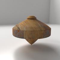 wooden spinning 3d blend