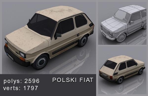 polski fiat 3d max