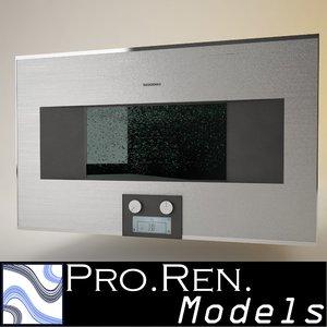 3d model steam oven gaggenau