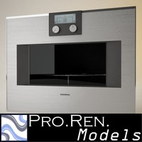 microwave oven gaggenau 3d model