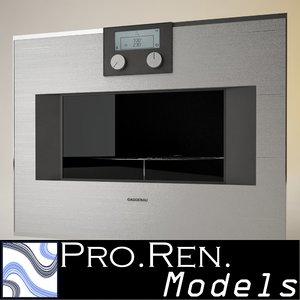 microwave oven gaggenau 3d model