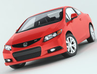 honda civic si coupe 3d model