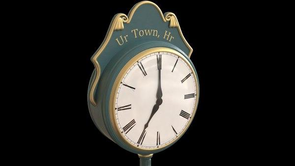 3d clock town model
