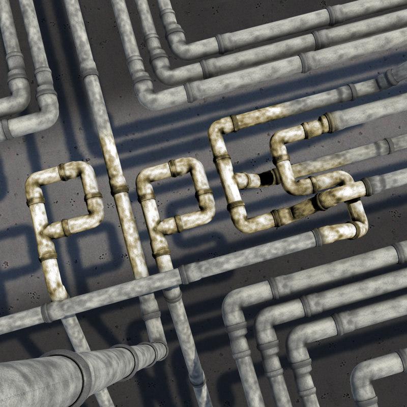3d model pvc pipes