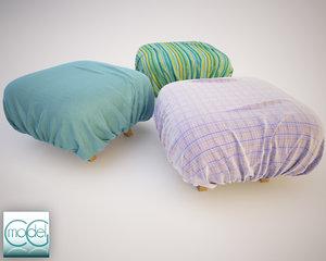 fabrics pouf 3ds