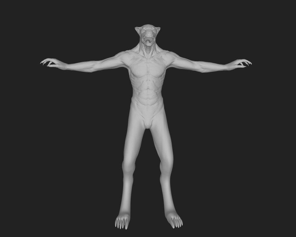 base werewolf 3d model