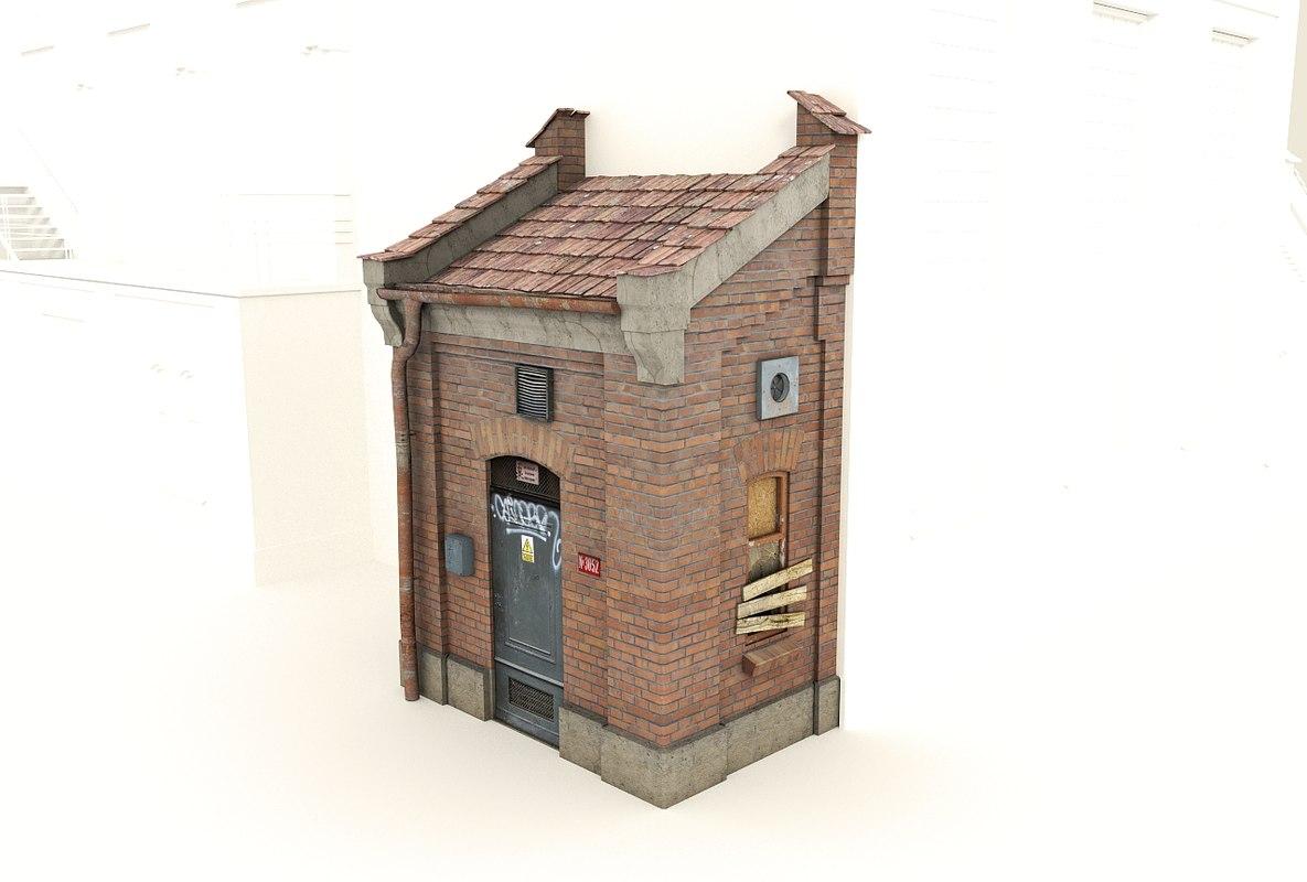 3d building - model