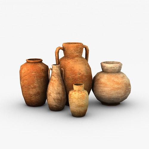 3d model ancient vases