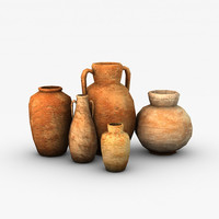 3d model ancient vases
