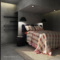 3ds max bed bedroom interior