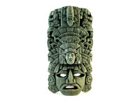 3d decorative mayan native mask model