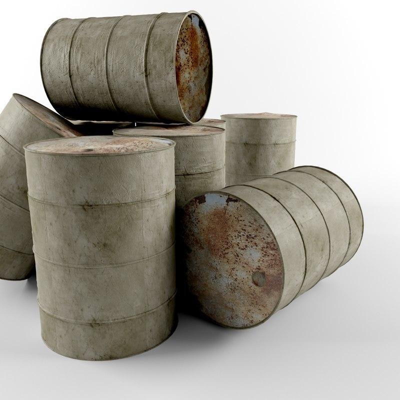 old barrel 3d max