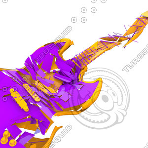 3ds max shattered guitar