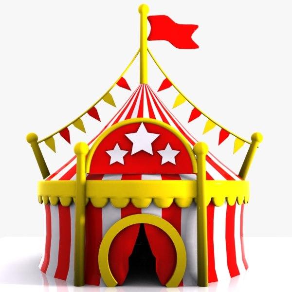 cartoon circus tent 3d model  sc 1 st  TurboSquid & circus tent 3d model