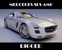 Mercedes SLS AMG rigged